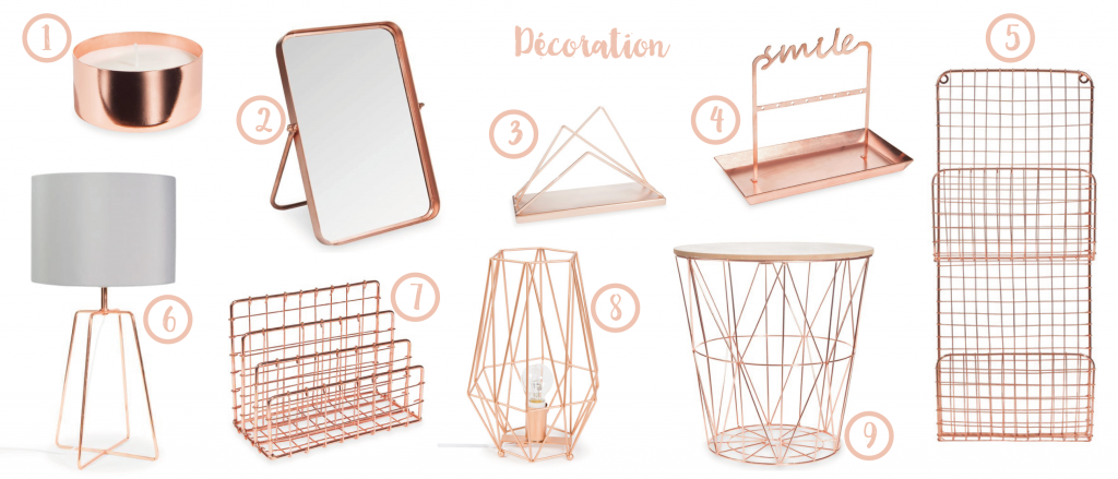 Selection deco copper